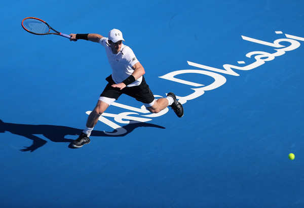 Murray at the Mubadala World Tennis Championship last week (Photo by Francois Nel/Getty Images)