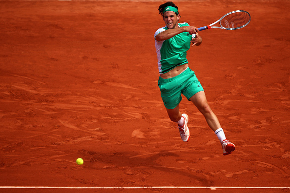 Dominic Thiem strikes a forehand (Photo: Julian Finney/Getty Images)