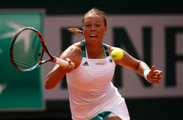 Anett Kontaveit in action | Photo: Adam Pretty/Getty Images Europe