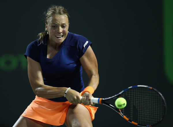 Anett Kontaveit produces a comeback to triumph in the first set | Photo: Julian Finney/Getty Images North America