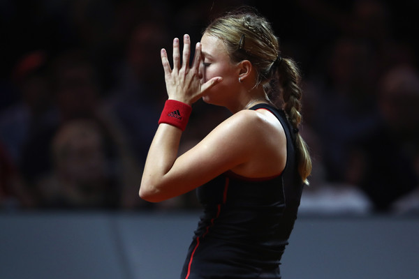 Anett Kontaveit struggled to find her momentum today | Photo: Alex Grimm/Getty Images Europe