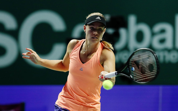 Angelique Kerber during a practice session in Singapore | Photo: Yong Teck Lim/Getty Images AsiaPac