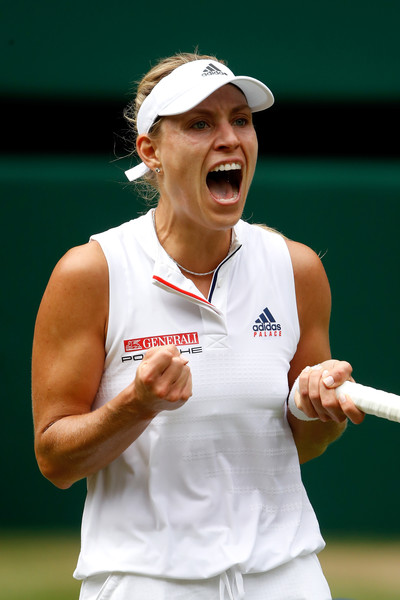 Angelique Kerber celebrates grabbing the huge win | Photo: Julian Finney/Getty Images Europe