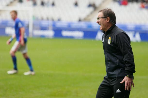 Anquela arenga a sus futbolistas tras la desastrosa primera mitad