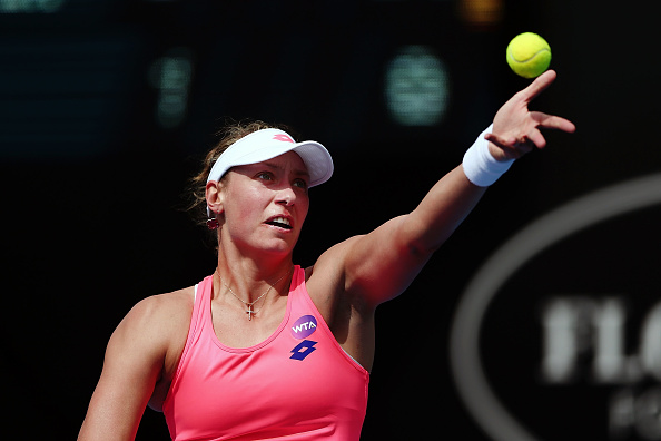 Yanina Wickmayer's serve will be crucial for her chances of victory (Getty/Anthony Au-Yeung)