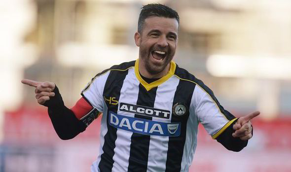 Udinese can no longer rely on Di Natale | Photo: express.co.uk