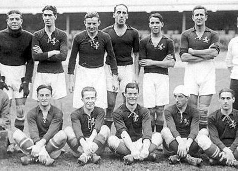 La Selección Española en los Juegos Olímpicos de Amberes 1920. Foto: RFEF