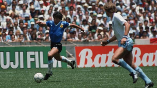 Diego Armando Maradona en México 1986   Foto: FIFA