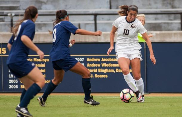 Arielle Ship (right) during her time as a Cal Golden Bear | Source: Dailycal.org