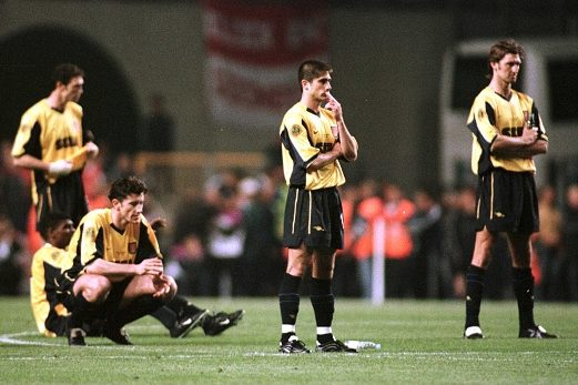 Jugadores del Arsenal tras perder la tanda de penaltis. Foto: Getty Imag