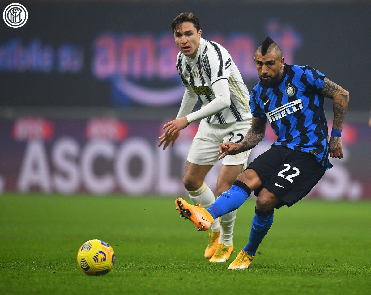 Arturo Vidal abrió el marcador y fue fundamental en el triunfo / Foto: Inter