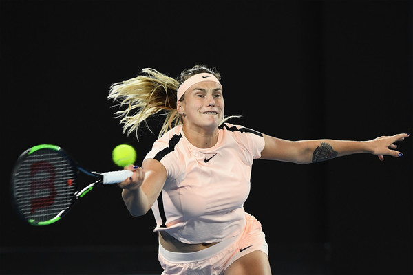 It was a bad day at the office for Aryna Sabalenka, who failed to back up her win over Kuznetsova | Photo: Quinn Rooney/Getty Images AsiaPac