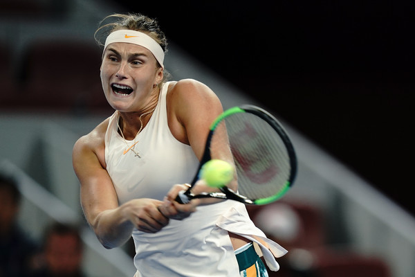 Aryna Sabalenka had the golden opportunity to qualify for Singapore but failed to take her chances | Photo: Lintao Zhang/Getty Images AsiaPac