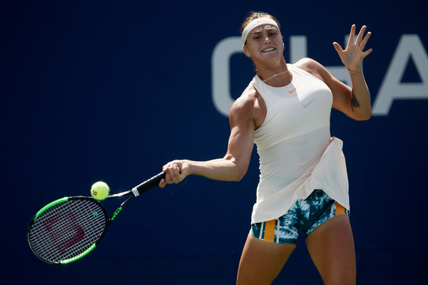 Aryna Sabalenka's explosive game saw her hitting 38 winners | Photo: Julian Finney/Getty Images North America