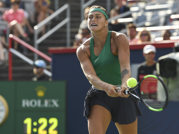 Aryna Sabalenka claimed a huge win over Wozniacki in Montreal | Photo: Minas Panagiotakis/Getty Images North America