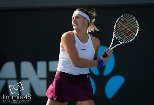 Sabalenka barely avoided a second straight upset against Hsieh/Photo: Jimmie48 photography