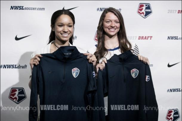 Darian Jenkins (left) and Ashley Hatch were selected in the 2017 NWSL Draft (Source: Jenny Chuang - Vavel)
