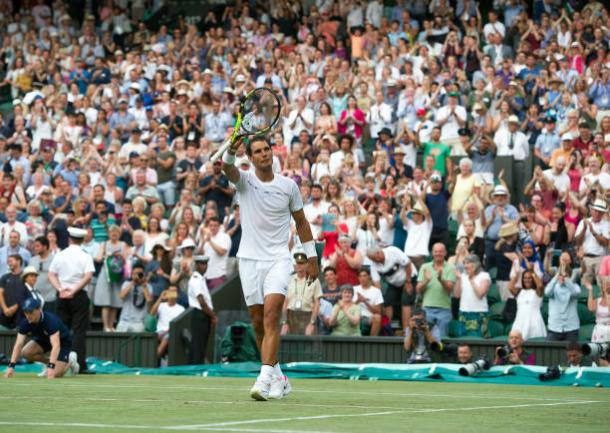 Rafael Nadal following his first round win against John Millman (Getty/Ashley Western)