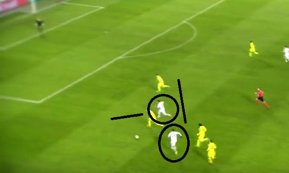 Asociación del Wolfsburgo en la jugada que terminó con el 0-1 obra de Draxler