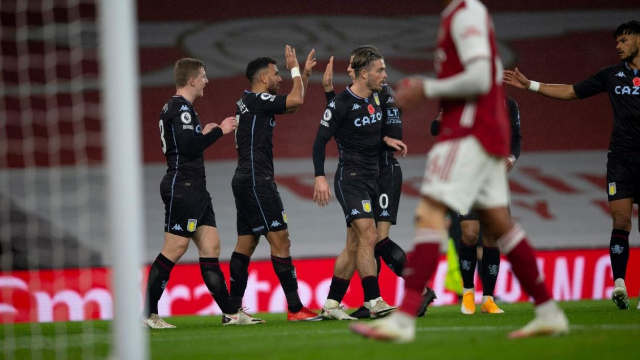 Aston Villa celebrando, en su último encuentro frente al Arsenal  | Foto: Aston Villa