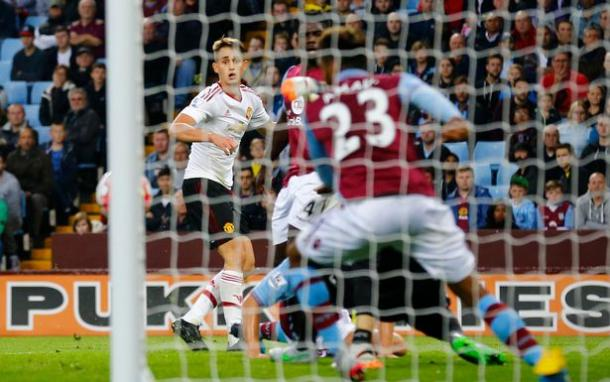 Januzaj scoring the winner against Villa earlier in the season | Photo: Getty Images