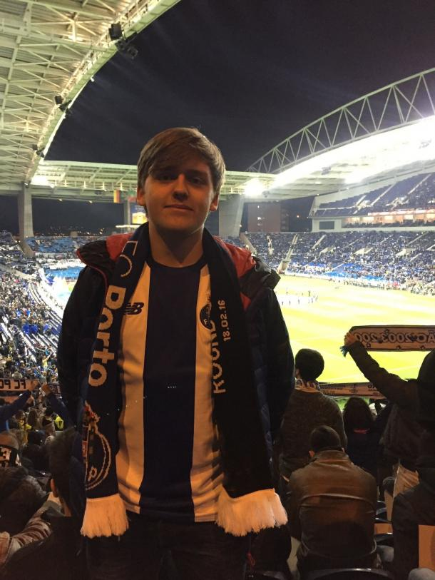 Aaron at the Estadio do Dragao