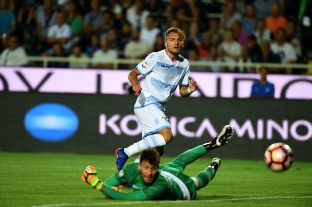 Immobile slots his first past Sportiello | Photo: Pier Marco Tacca/Getty Images