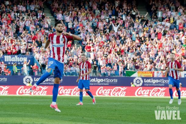 Carrasco celebra el 1-0 Foto: Álex Ricoller (Vavel)