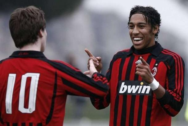 Aubameyang nelle giovanili del Milan. | Foto: ilmilanista.it