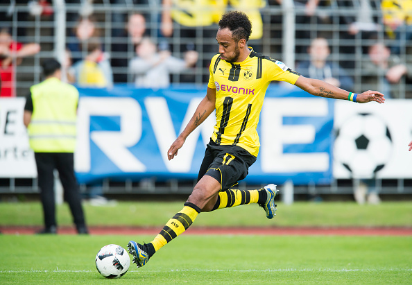 Aubameyang marcou 25 gols na Bundesliga e terminou como vice artilheiro atrás de Lewandowski Foto: Alexandre Simões/Getty Images