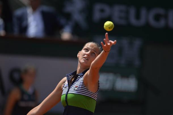 One of Karolina Pliskova's many strengths is her serve, which is arguably one of the best in the sport (Getty/Aurelien Meunier)