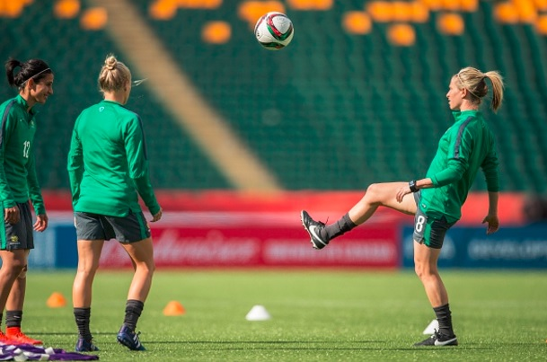 Australia Women's Nation Team during training session at the 2015 FIFA Women's World Cup (Photo Source Geoff Robins/AFP/Gerry Images)
