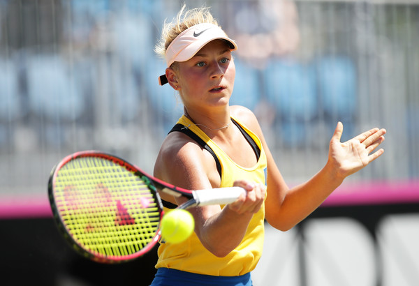 Marta Kostyuk was dictating play well today | Photo: Matt King/Getty Images AsiaPac