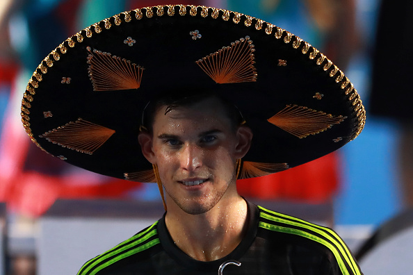 Dominic Thiem poses for pictures after winning the men's final singles matchagainst Bernard Tomic as part of Telcel ATP Mexican Open (Photo:Miguel Tovar/Getty Images)