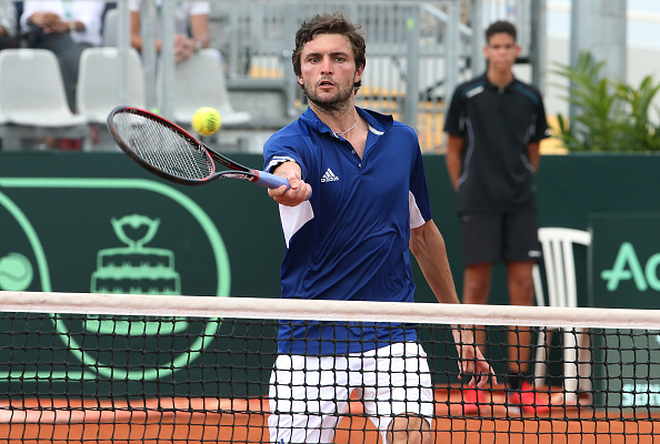 Gilles Simon in action during his win over Vasek Pospisil (Photo:Jean Catuffe/Getty Images)