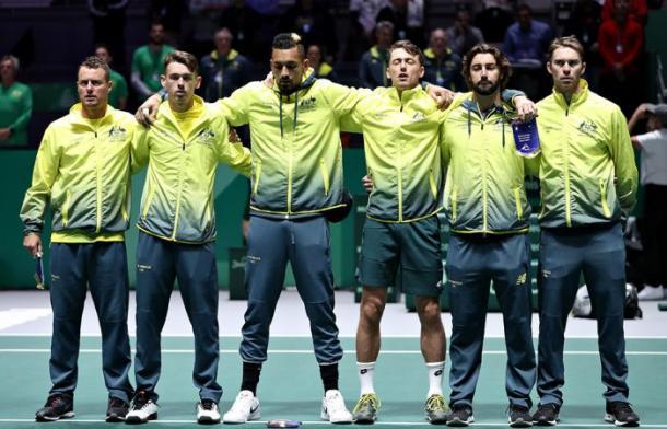 Australia, en su segunda presencia consecutiva en las finales de la Copa Davis. Imagen: Getty Images.
