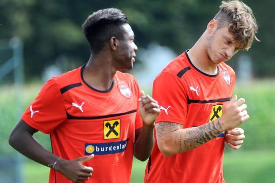 Alaba y Arnautovic en un entrenamiento I www.welt.de
