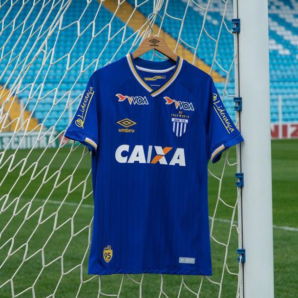 Novo uniforme do Avaí, em comemoração aos 95 anos do clube (Foto: Divulgação/Avaí FC)
