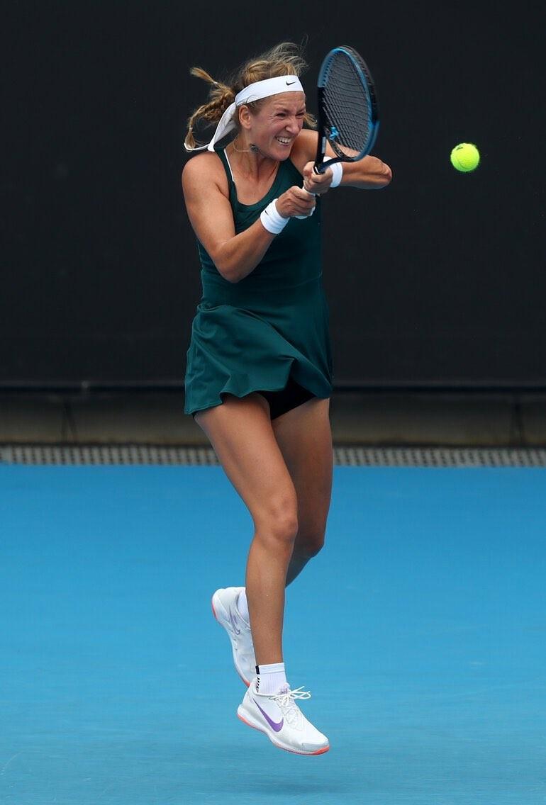 Victoria Azarenka se retiró con algunas molestias físicas. Foto: WTA Español @WTA_Espanol