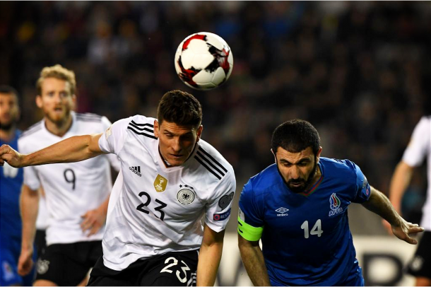 Partido de ida entre Azerbaiyán 1-4 Alemania. Foto: Die Mannschaft