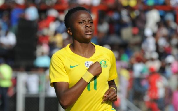 Thembi Kgatlana has made an impact for South Africa | Source: sportsclub.co.za