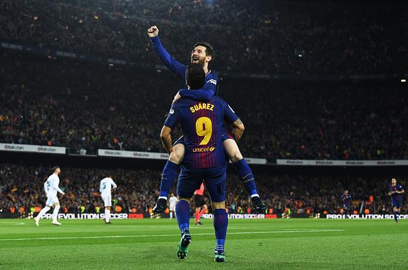 Messi comemorou mais um gol em clássicos (Foto:
