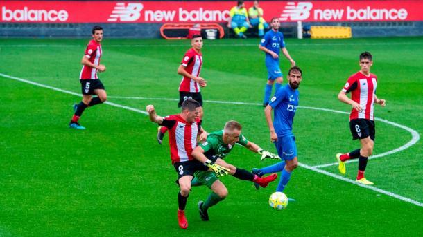 Partido entre el Bilbao Athletic y Calahorra en Lezama | Foto: Web oficial del Athletic Club