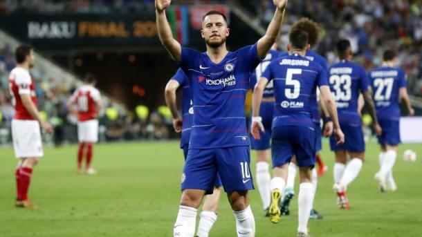Hazard y su ultimo partido en el Chelsea.  Foto: BBC