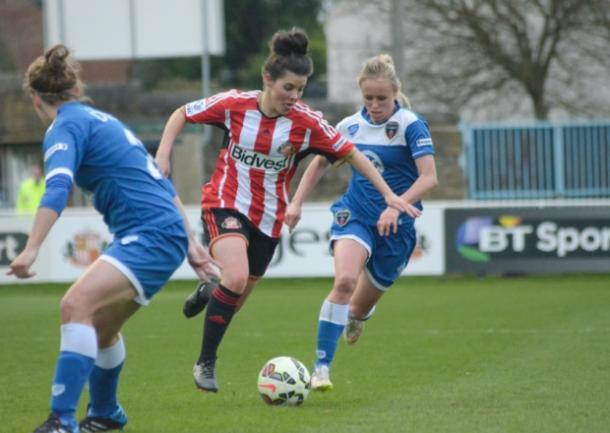 Chaplen will be hoping to build on her two-goal haul this coming weekend. | Photo: Sunderland AFC.