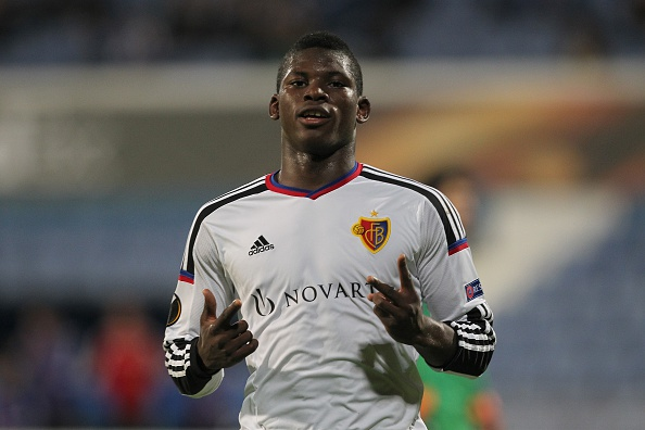 Embolo celebrates scoring for FC Basel in the UEFA Europa League. | Image credit: Carlos Rodrigues/Getty Images