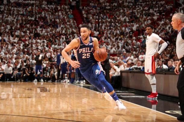 Although he's just a rookie, Ben Simmons dominated in the playoffs, something we're not accustomed to seeing in the playoffs. Photo: Issac Baldizon/Getty Images