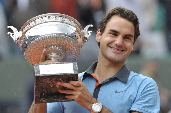 Federer won his first, and currently only, French Open title in 2009, competing his career Grand Slam. Credit: Bertrand Guay/Getty Images