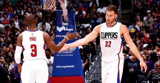 Chris Paul y Blake Griffin, juntos otra vez. Foto: Los Angeles Clippers
