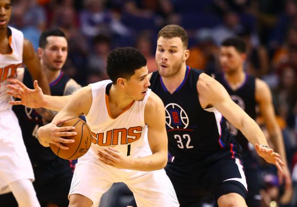 Blake Griffin and the Suns' youth and fast-pace could be a good fit for the once high-flyer. Photo: Mark J. Rebilas/USA-TODAY Sports